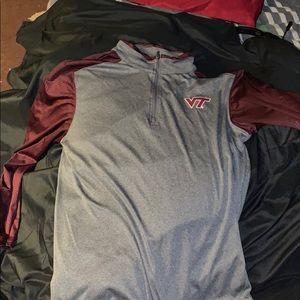 Virginia tech Longe Sleeve Quarter Zip runner jack